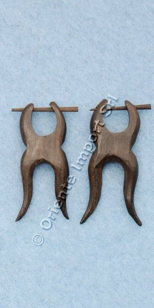 WOODEN EARRINGS LE-OR02-16 - Oriente Import S.r.l.