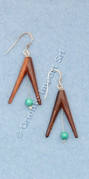 WOODEN EARRINGS LE-ORP01 - Oriente Import S.r.l.