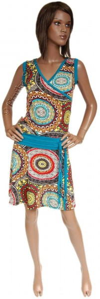 SUMMER JERSEY DRESSES WITH SHORT SLEEVES AB-MRS045CK - Etnika Slog d.o.o.