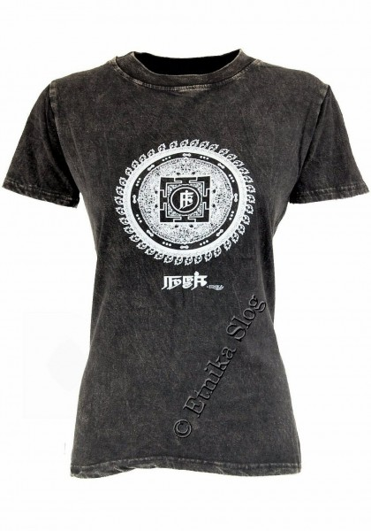 COTTON T-SHIRTS - STONEWASHED WITH PRINT AB-NPM03-03 - Oriente Import S.r.l.