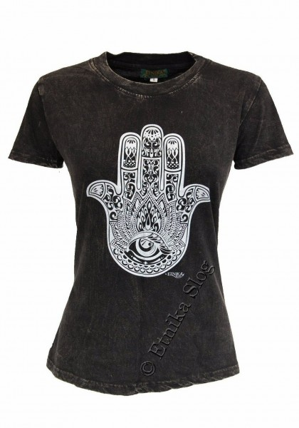 COTTON T-SHIRTS - STONEWASHED WITH PRINT AB-NPM03-07 - Oriente Import S.r.l.