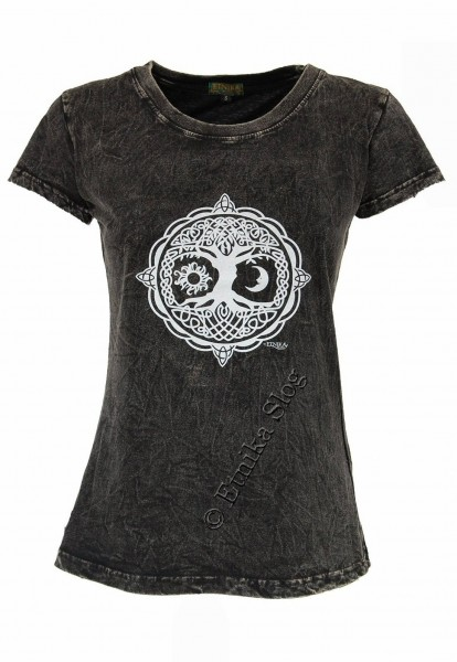COTTON T-SHIRTS - STONEWASHED WITH PRINT AB-NPM03-11 - Oriente Import S.r.l.