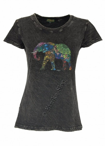 COTTON T-SHIRTS - STONEWASHED WITH PRINT AB-NPM03-13 - Oriente Import S.r.l.