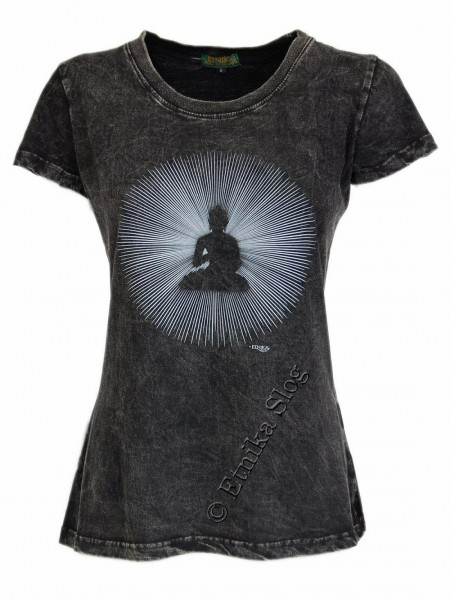 COTTON T-SHIRTS - STONEWASHED WITH PRINT AB-NPM03-16B - Oriente Import S.r.l.