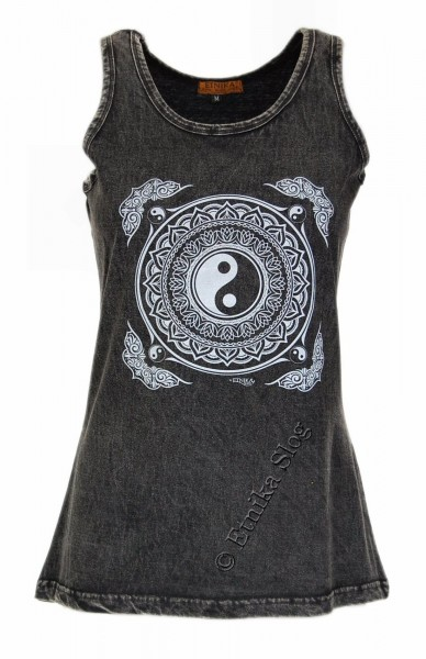 COTTON TANK TOPS - STONEWASHED WITH PRINT AB-NPM04-20B - Oriente Import S.r.l.