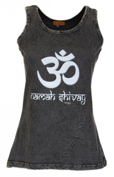COTTON TANK TOPS - STONEWASHED WITH PRINT AB-NPM04-19 - Oriente Import S.r.l.