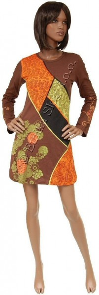 COTTON DRESSES WITH LONG SLEEVES AB-WFV07 - Oriente Import S.r.l.