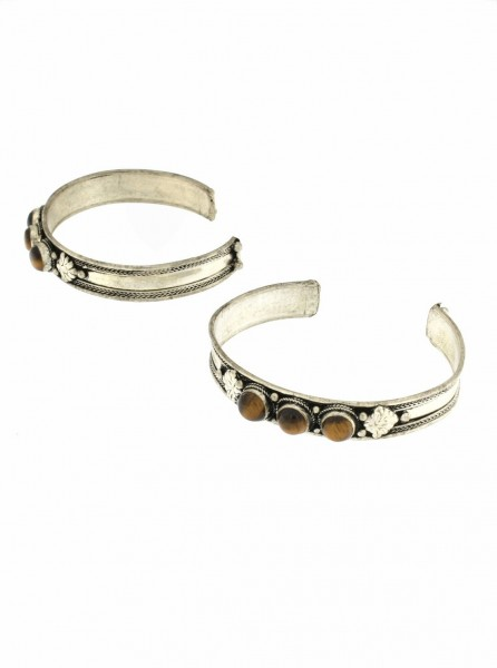 WHITE METAL BRACELET WITH HARD STONE MB-BRT16-TIGRE - Oriente Import S.r.l.