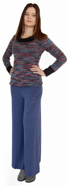 -10% WOOLEN JACKETS, PONCHOS AND SWEATERS AB-CWT18042-BL - Oriente Import S.r.l.