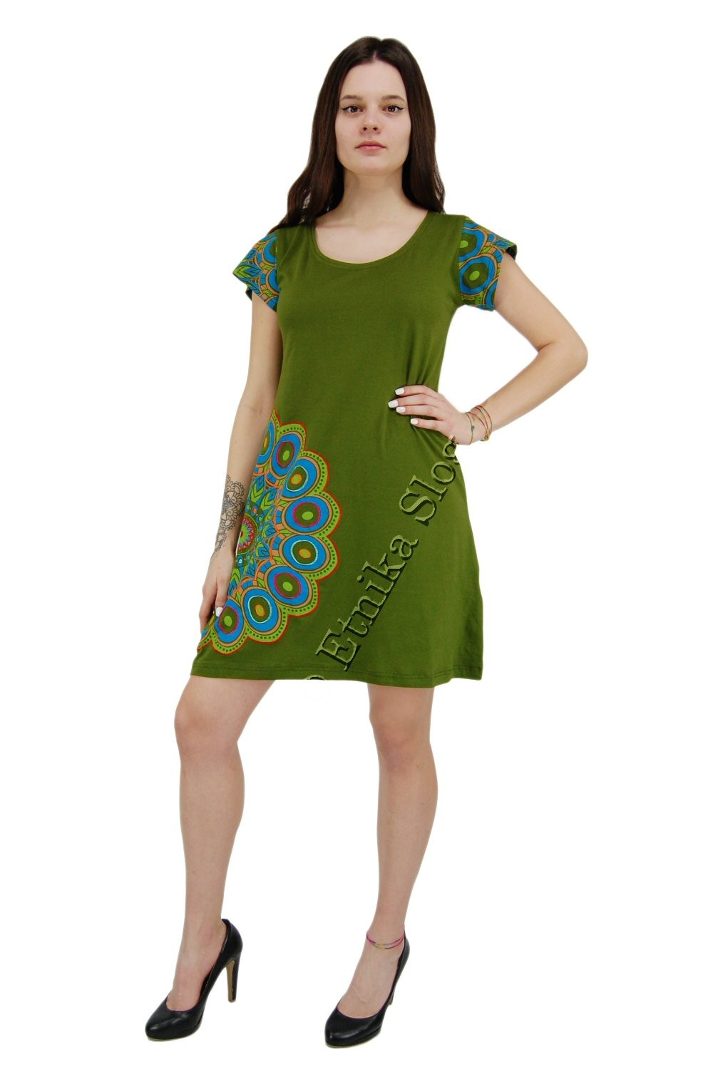 SHORT SLEEVE AND SLEEVELESS COTTON DRESSES AB-BSV45 - Oriente Import S.r.l.