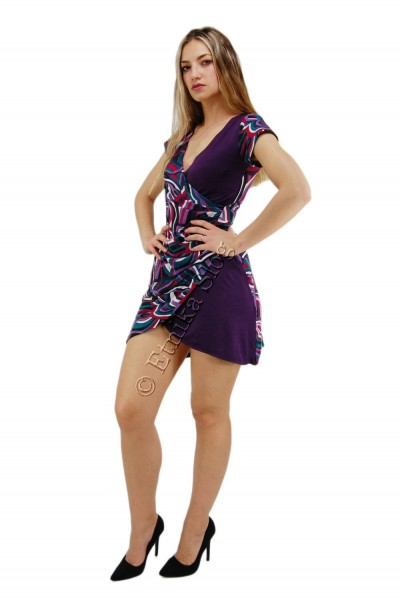 SUMMER JERSEY DRESSES WITH SHORT SLEEVES AB-MRS271-A - Oriente Import S.r.l.