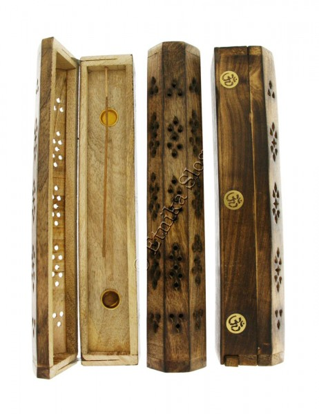 INCENSE HOLDERS WOODEN BOX PI-BG03-01 - Oriente Import S.r.l.