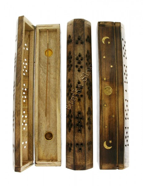 INCENSE HOLDERS WOODEN BOX PI-BG03-02 - Oriente Import S.r.l.