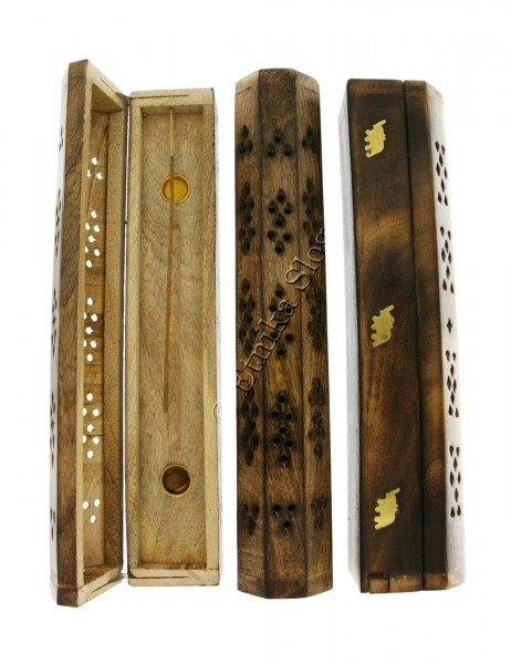 INCENSE HOLDERS WOODEN BOX PI-BG03-05 - Oriente Import S.r.l.