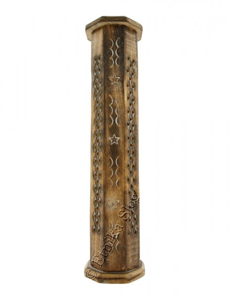 INCENSE HOLDER - WOODEN PILLAR PI-BG44-03 - Etnika Slog d.o.o.