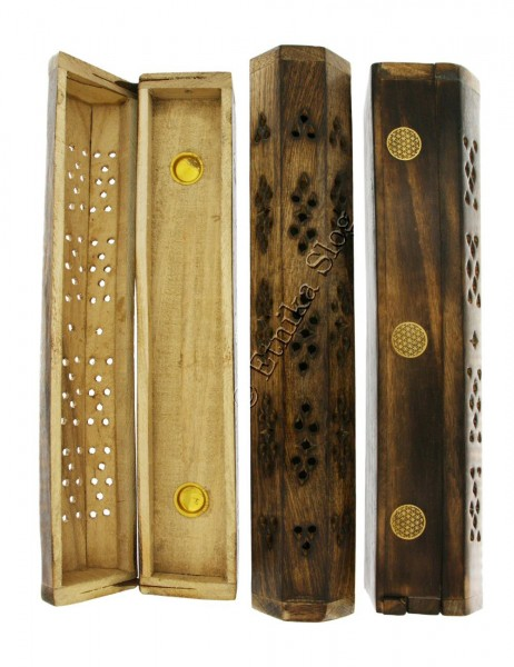 INCENSE HOLDERS WOODEN BOX PI-BG03-07 - Oriente Import S.r.l.