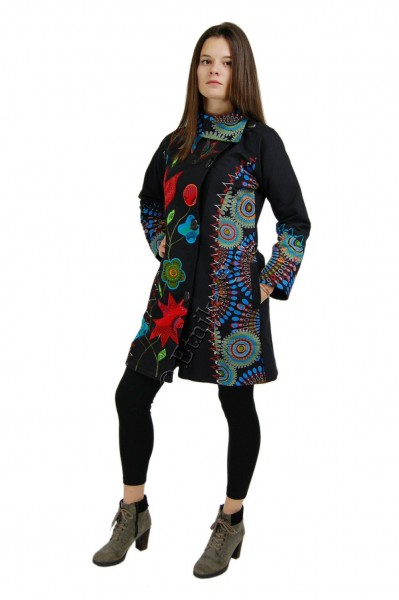 AUTUMN/WINTER COATS WARM WINTER COAT, LINED,  MADE OF COTTON WITH PRINTS AND EMB - Oriente Import S.r.l.