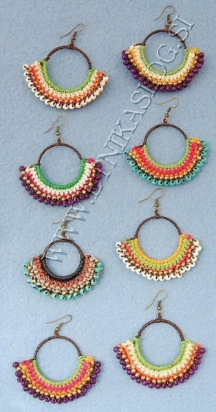 MIXED MATERIALS EARRINGS TH-BGOR11 - Oriente Import S.r.l.