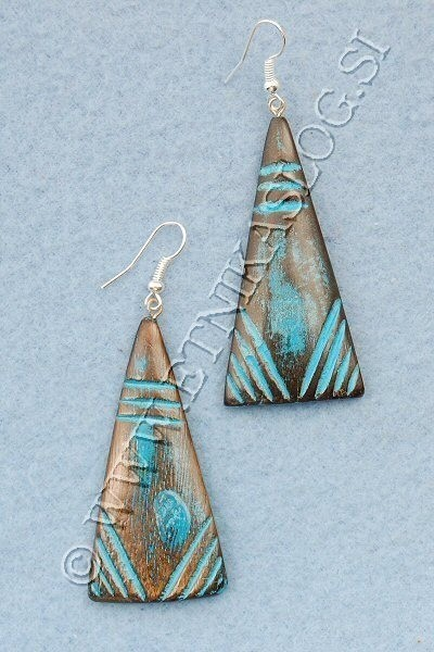 WOODEN EARRINGS LE-ORC06 - Oriente Import S.r.l.