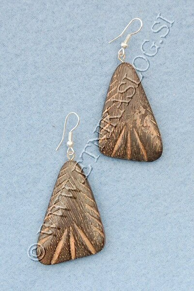 WOODEN EARRINGS LE-ORC08 - Oriente Import S.r.l.