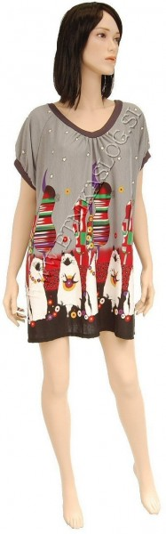 SUMMER JERSEY DRESSES WITH SHORT SLEEVES AB-MRS335BS - Oriente Import S.r.l.